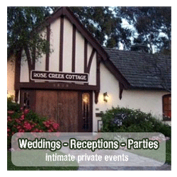 Reserve Rose Creek Cottage for your special event!
