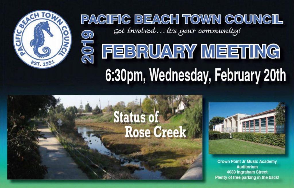 PBTC Monthly Public Forum - Pacific Beach Town Council