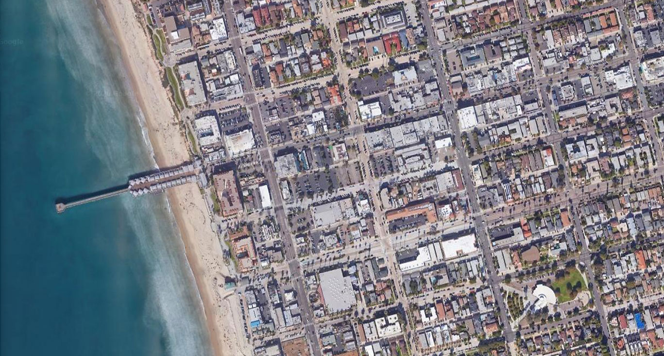 Pacific Beach from satellite