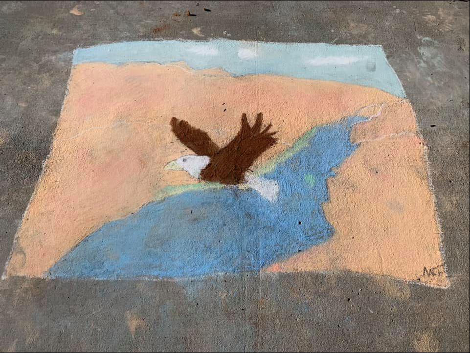 Best Nature Winner of the 2021 PB Chalk Art Contest