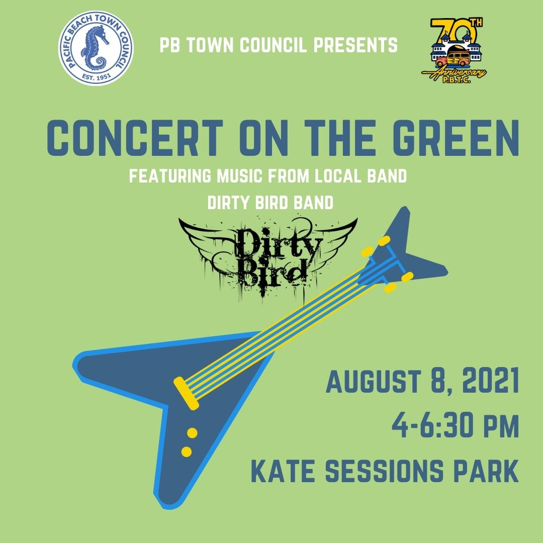 Flyer for 2021 Concert on the Green